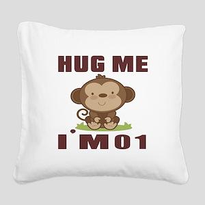 Hug Me I Am 01 Square Canvas Pillow
