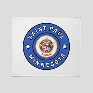 Saint Paul Minnesota Throw Blanket