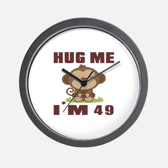 Hug Me I Am 49 Wall Clock