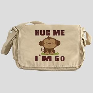 Hug Me I Am 50 Messenger Bag