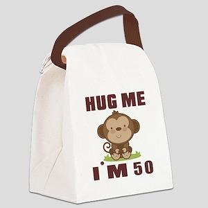 Hug Me I Am 50 Canvas Lunch Bag