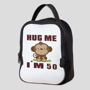 Hug Me I Am 50 Neoprene Lunch Bag
