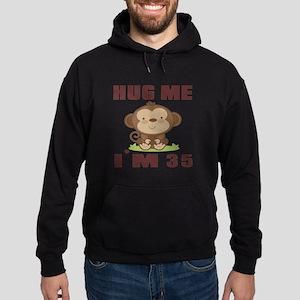 Hug Me I Am 35 Hoodie (dark)