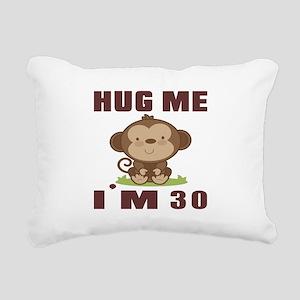Hug Me I Am 30 Rectangular Canvas Pillow