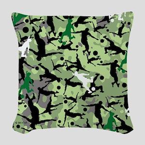 Soccer Woven Throw Pillow