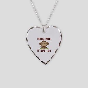 Hug Me I Am 100 Necklace Heart Charm