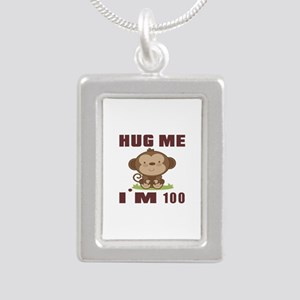 Hug Me I Am 100 Silver Portrait Necklace