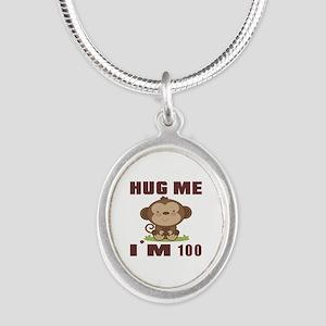 Hug Me I Am 100 Silver Oval Necklace