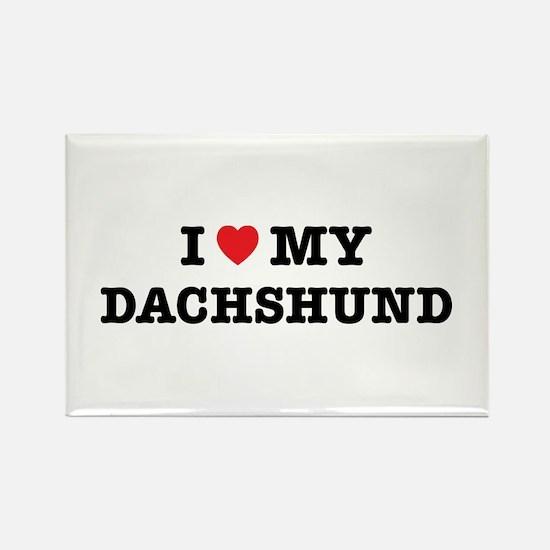 I Heart My Dachshund Magnets