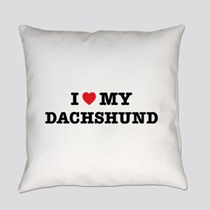 I Heart My Dachshund Everyday Pillow