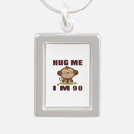 Hug Me I Am 90 Silver Portrait Necklace