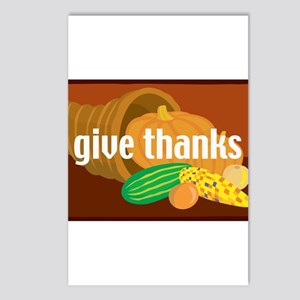 Cornucopia Give Thanks Postcards (Package of 8)