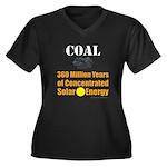 Coal Is Sola Women's Plus Size V-Neck Dark T-Shirt