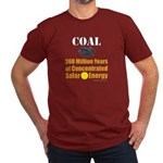 Coal Is Solar Men's Fitted T-Shirt (dark)
