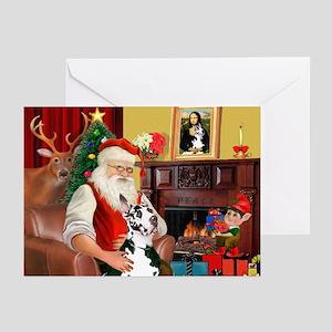 Santa's Great Dane (H) Greeting Cards (Pk of 10)