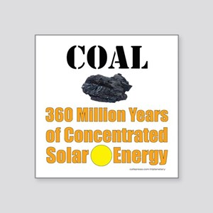 Coal Concentrated Solar Sticker