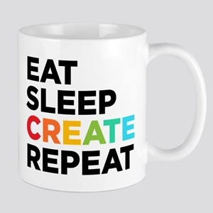 Eat Sleep Create Repeat Stainless Steel Travel Mug