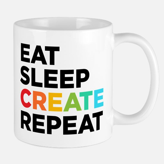Eat Sleep Create Repeat Stainless Steel Travel Mug