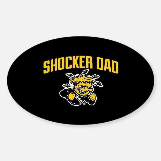 Wichita State Shocker Dad Sticker (Oval)