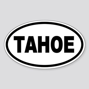 Basic Tahoe Oval Sticker