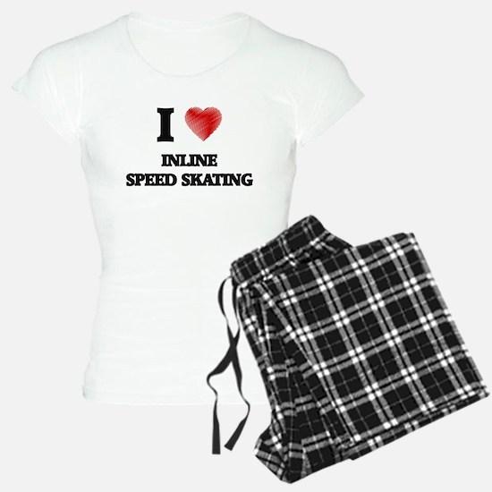 I Love Inline Speed Skating Pajamas