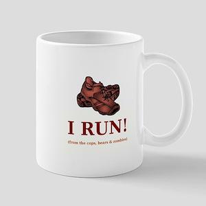 I RUN! Mugs