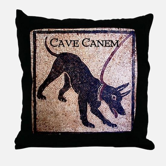 """""""Cave Canem"""" Throw Pillow"""