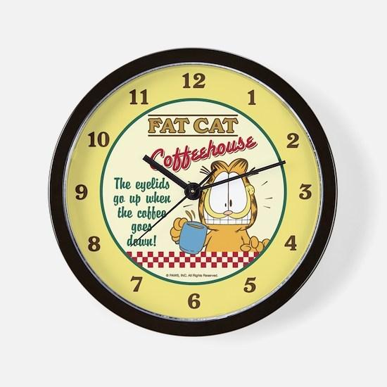 Coffeehouse Garfield Wall Clock