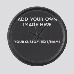 Add Your Own Image/Text Large Wall Clock