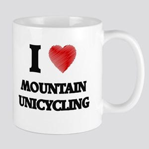 I Love Mountain Unicycling Mugs