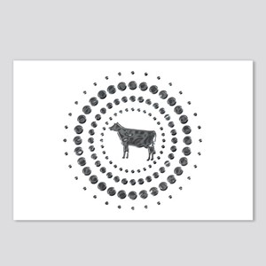 Cow Chrome Studs Postcards (Package of 8)