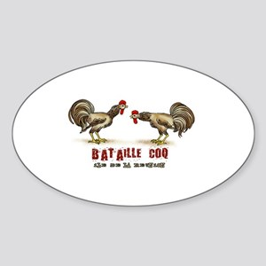Rooster Oval Sticker