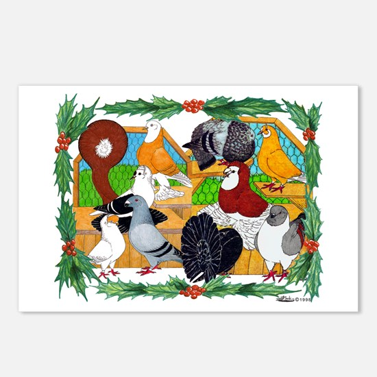 Christmas Pigeons Postcards (Package of 8)