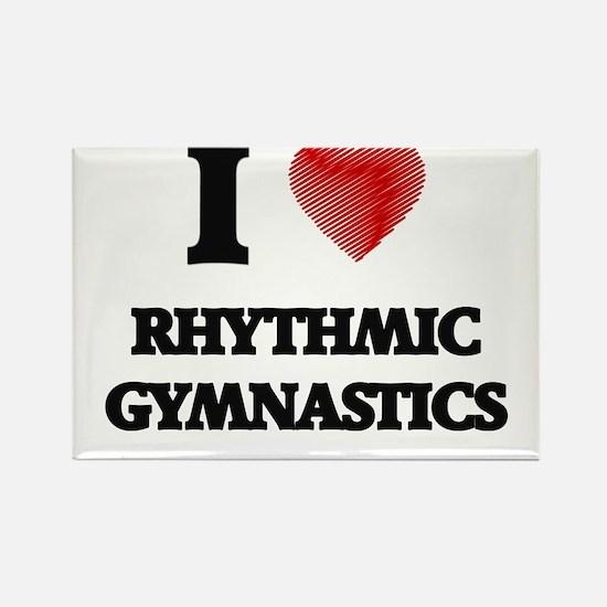 I Love Rhythmic Gymnastics Magnets