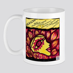 """Reason"" Illustrated Poem Mug"