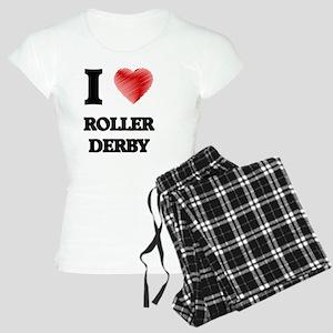 I Love Roller Derby Women's Light Pajamas