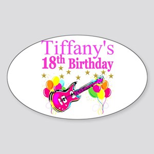 PERSONALIZED 18TH Sticker (Oval)