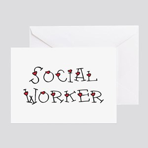 Social Worker Hearts Greeting Card