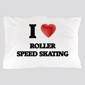 I Love Roller Speed Skating Pillow Case