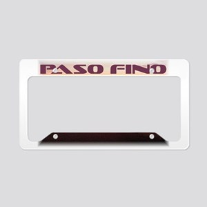 License Plate Holder With Paso Fino