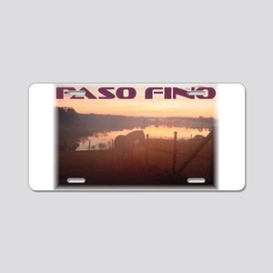 Aluminum License Plate With Paso Fino