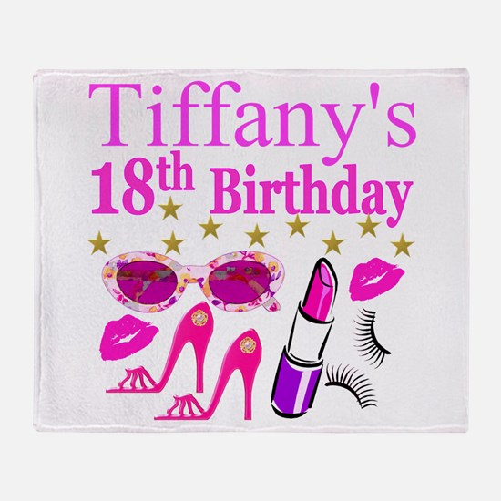 PERSONALIZED 18TH Throw Blanket