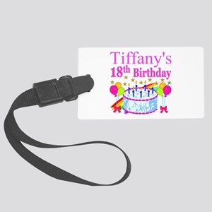 PERSONALIZED 18TH Large Luggage Tag