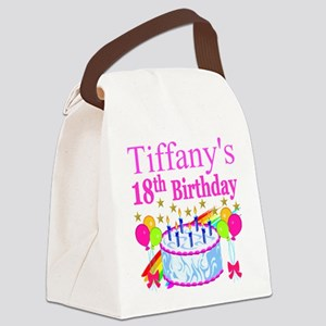 PERSONALIZED 18TH Canvas Lunch Bag