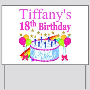 PERSONALIZED 18TH Yard Sign