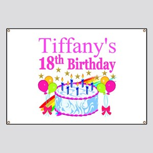 PERSONALIZED 18TH Banner
