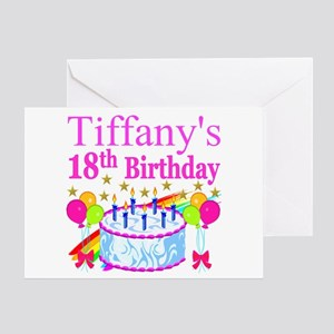 PERSONALIZED 18TH Greeting Card