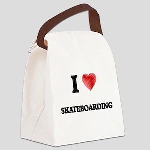 I Love Skateboarding Canvas Lunch Bag