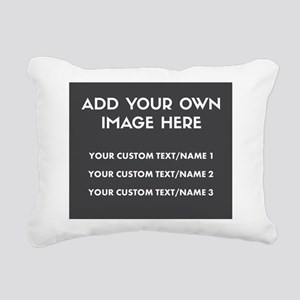 Add Your Own Image/Text Rectangular Canvas Pillow