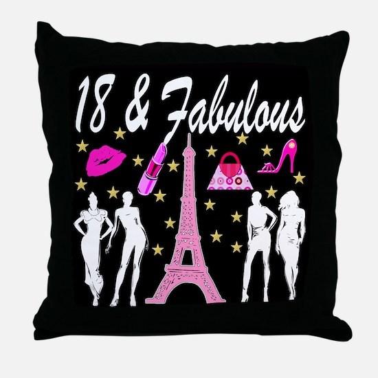18TH PARIS Throw Pillow